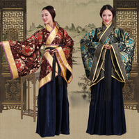 New Chinese folk dance fairy costume fashion brocade women's classical hanfu costume traditional ancient Chinese clothing