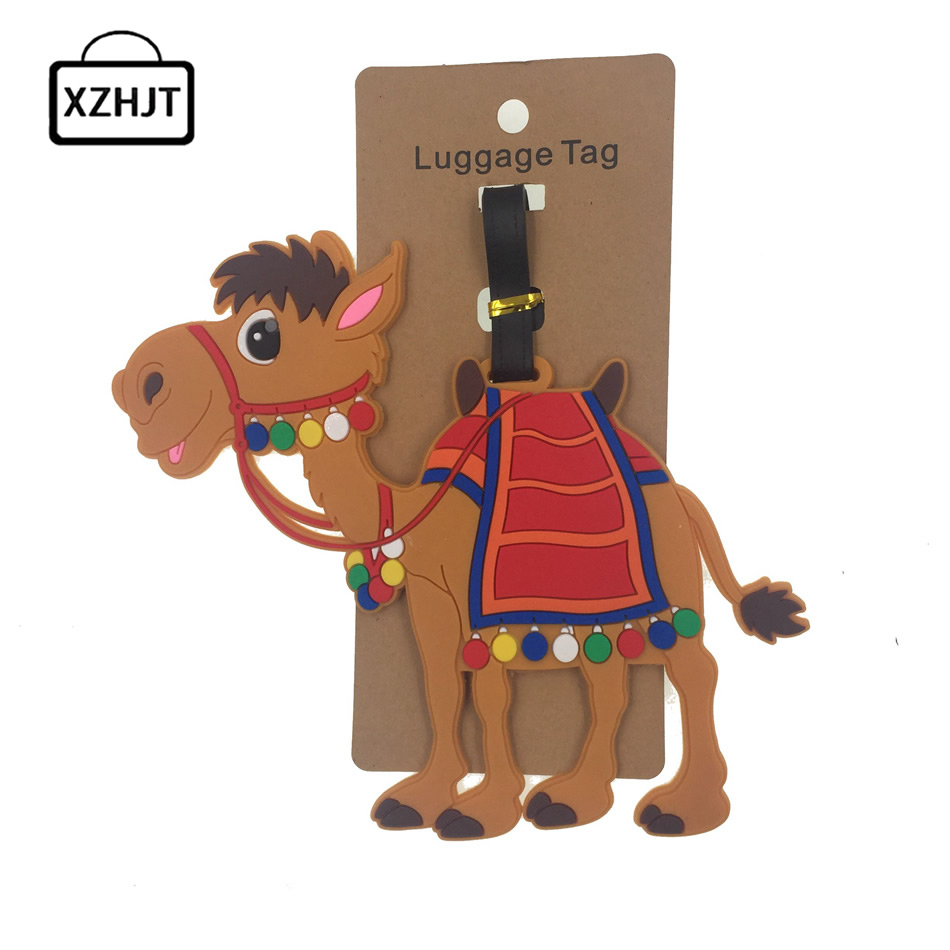 animal-prints-camel-silica-gel-luggage-tag-travel-accessories-suitcase-id-addres-holder-baggage-boarding-tags-portable-label