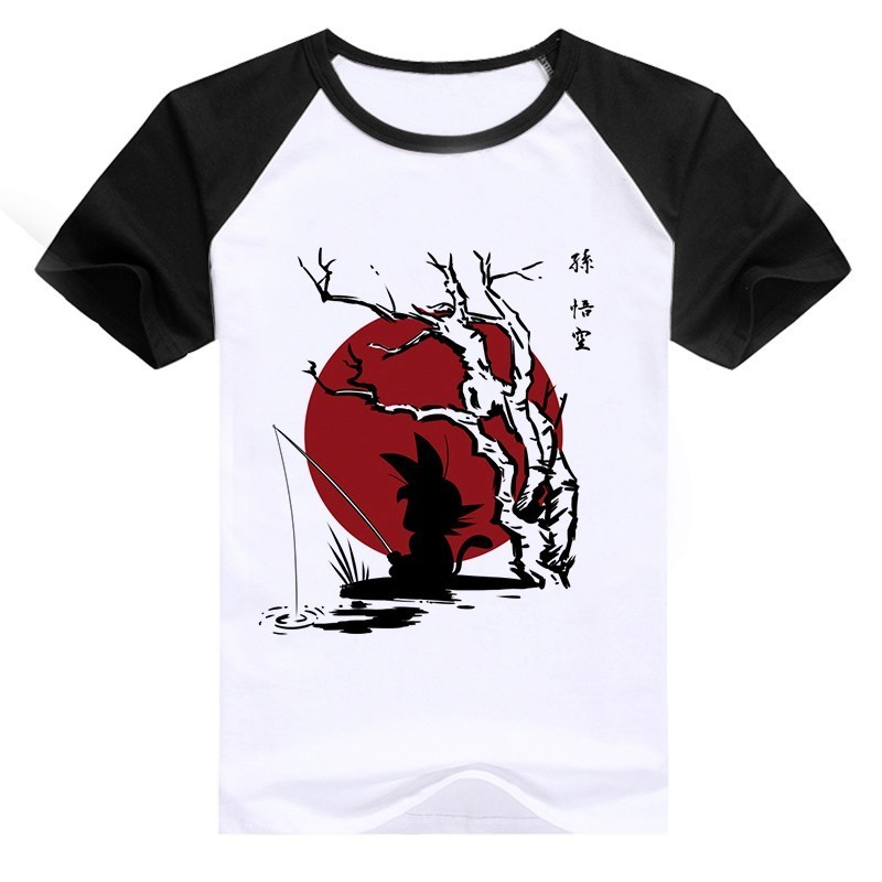 New Collection DBZ Anime Short Sleeves Raglan T-Shirts