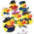 Cosplay Crianças Flutuante Patos de Borracha Amarelos Do Bebê banho de Chuveiro Do Banheiro Mini plástico Brinquedos para as crianças presentes do festival