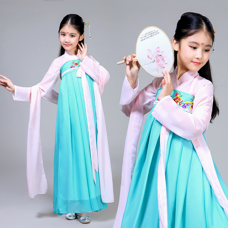 Workmanship In Apprehensive Hanfu Fairy Skirt National For Kids Princess Performance Costume Wear Chinese Style Stage Outfits Tang Dynasty Show Dnv11412 Exquisite