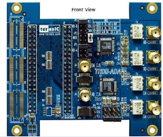AD/DA Module Sub Card THDB-ADA High Speed Data Acquisition Match The DE2-115 DE0-NANO Development Board