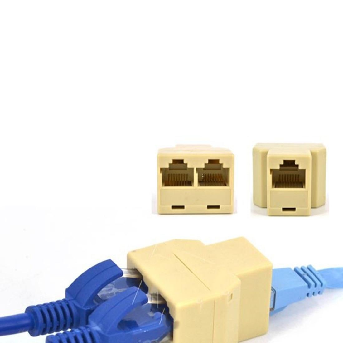High RJ45 Ethernet Cable LAN Port 1 to 2 Socket Splitter RJ45 ...