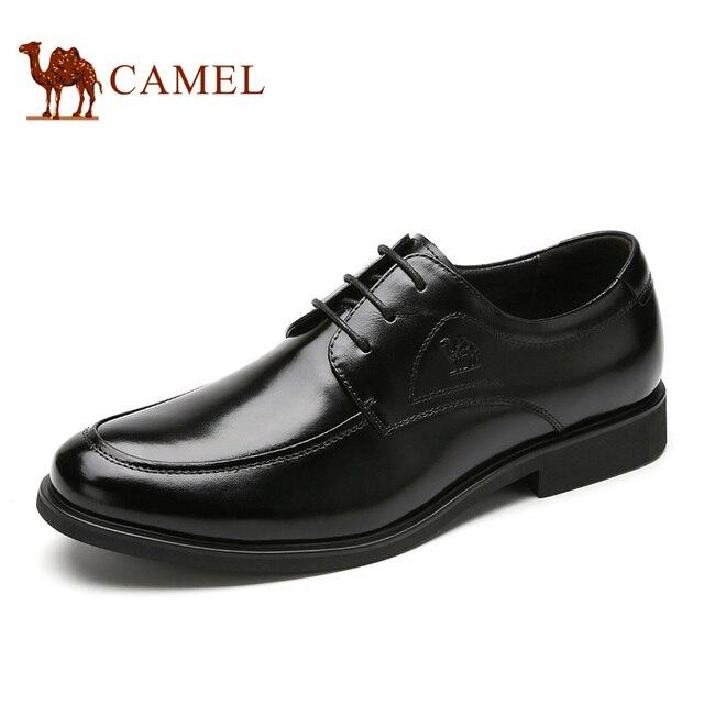 Camel zapatos de vestir masculina 2016 nueva moda de cuero formales de negocios zapatos planos calzado tamaño 38-43 A632272280
