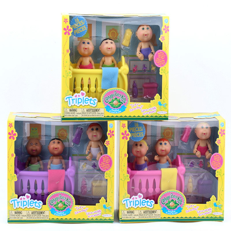 Original Cute Cabbage Patch Kids Play House Sets Toys Mini Doll  Gift For Children  2.75inch  Limb Movement With Packaging