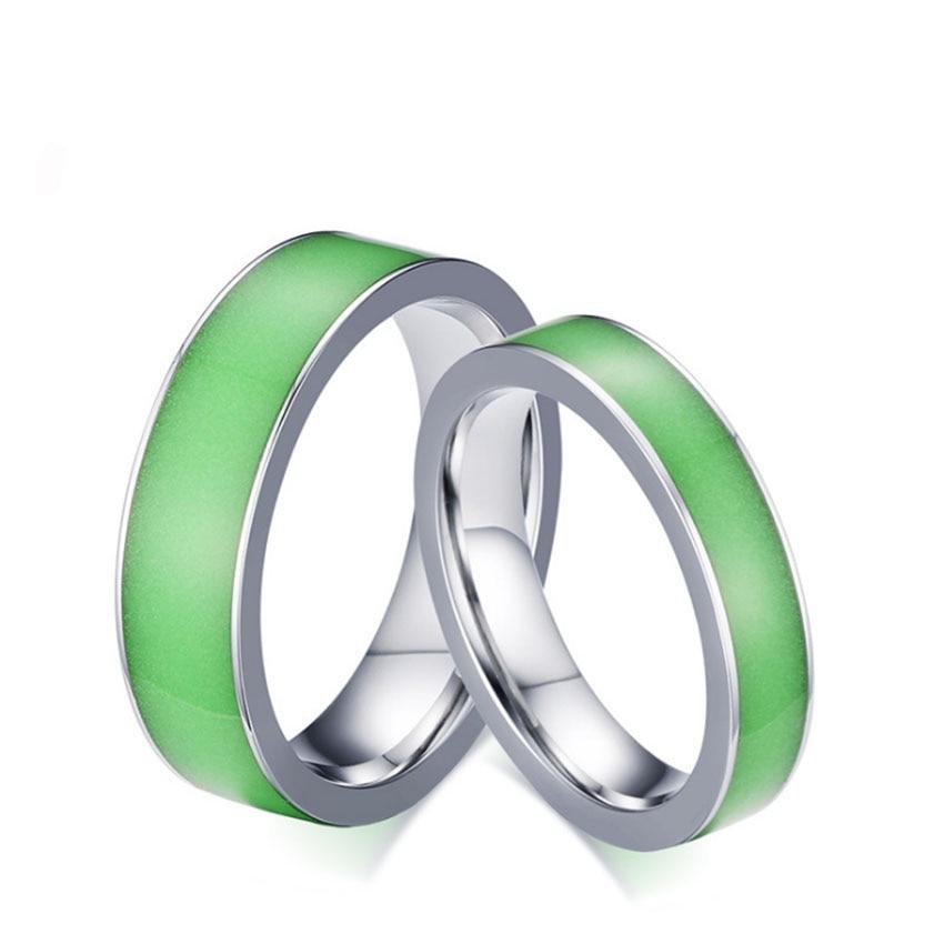 Glow In The Dark Wedding Rings Green Silicone Luminous Mood Glow In The Dark Rings Womens
