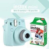 Fujifilm Instax Mini 9 Ice Blue мгновенная камера фото печать камера с 10 листов белый край мини самоклейка на окна подарочный набор