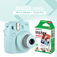Fujifilm Instax Mini 9 Ice Blue Instant Camera Photo Printing Camera With 10 Sheets White Edge Mini Film Paper Gift Set