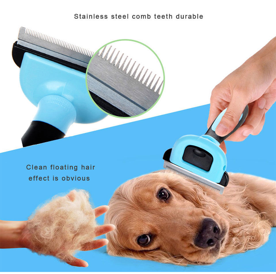 Pet Hairs Comb For Pet Dog Cats Hair Grooming Brush Dog Hair Cat Pet Comb Tool Fur Shedding Trimmer Removal Carding Brush Combs