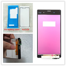 Black or white For SONY Xperia Z3 Display Touch Screen Digitizer Z3 LCD Screen Dual D6603 D6633 D6653 D6683 lruiize 100% test white lcd display screen for sony xperia z3 d6603 d6643 d6653 d6633 touch digitizer assembly tools frame