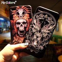 Case For IPhone 7 Plus Silicone Original Back Cover For IPhone 6s Kickstand Originality Cartoon Pattern
