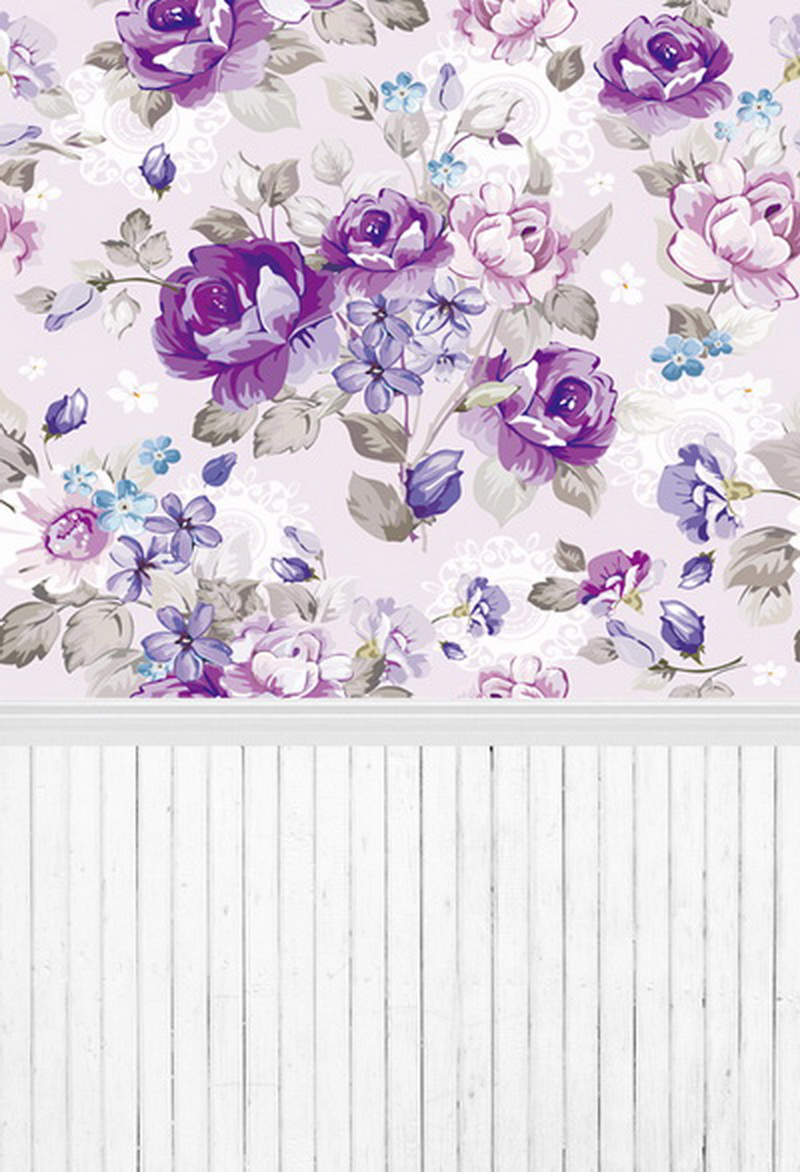Violet rose photography backdrop for photo studio baby girl white wood floor background D-7979 10ft 20ft romantic wedding backdrop f 894 fabric background idea wood floor digital photography backdrop for picture taking