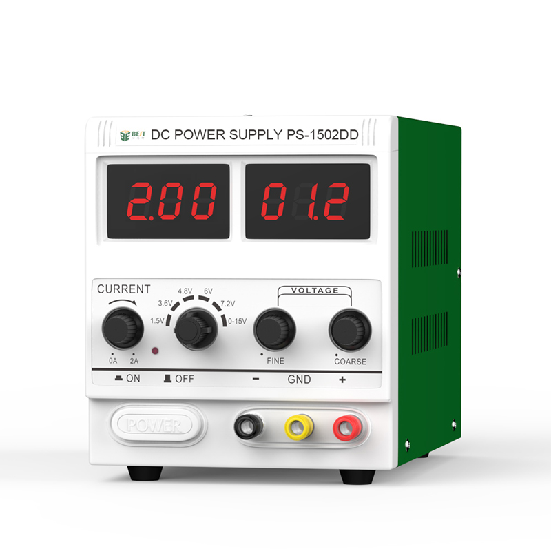 Phone Repair Adjustable DC Power Supply 0-2A 15V Digital Display Power Supply Continuous Conductive DC Regulator