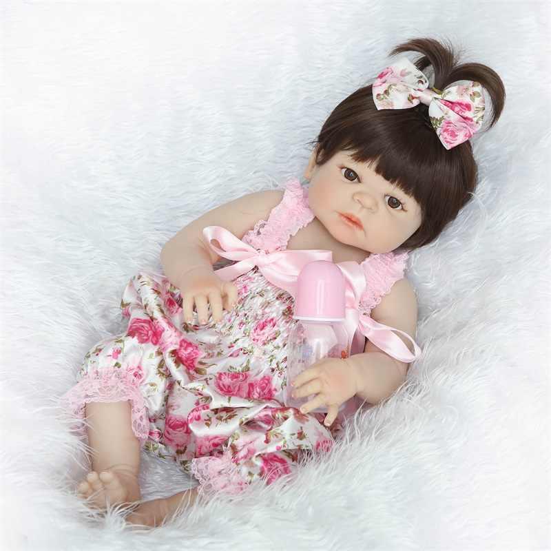 57 см полное Силиконовое боди кукла и одежды reborn playmate Детские игрушки ролевые игрушки для ванной аппетитные игрушки рождественские подарки на день рождения