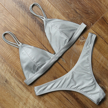 Swimsuit Sexy Bikini Push Up Women's Swimming Suit Swimwear Women Solid Biquini Maillot De Bain Femme 2018 Bathing Suit Women