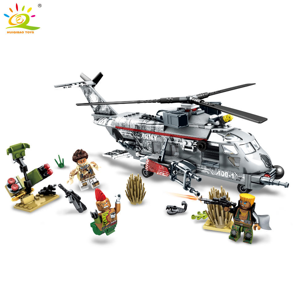 340pcs Military Helicopter Special forces war Building blocks set army soldiers figures bricks toys for children 688 new fx3u 64ccl special function blocks