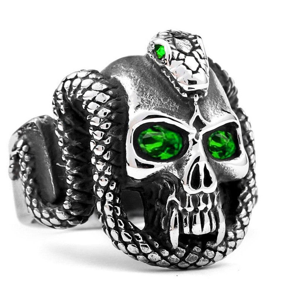 Unique Antique Three Ring Clear Diamante Rhinestones Skeleton Bone Ring Band New
