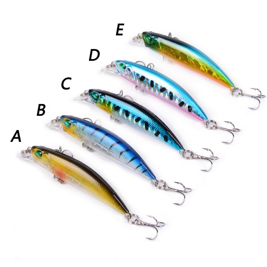 1Pcs Minnow Fishing Lure 68mm 2 67in Laser Crankbait Wobblers Artificial Plastic Hard Bait Fishing Tackle 4g 0 14oz in Fishing Lures from Sports Entertainment