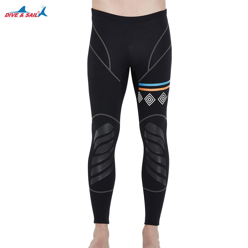 1.5MM Neoprene Seoprene Diving Pants For Men Winter Swimming Rowing Sailing Surfing Wetsuit Material Keep Warm Black Leggings