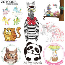 ZOTOONE Cute Animal Cartoon Unicorn Patch for Clothing DIY Patches Iron on Transfers Children Clothes Bag Washable Heat Transfer