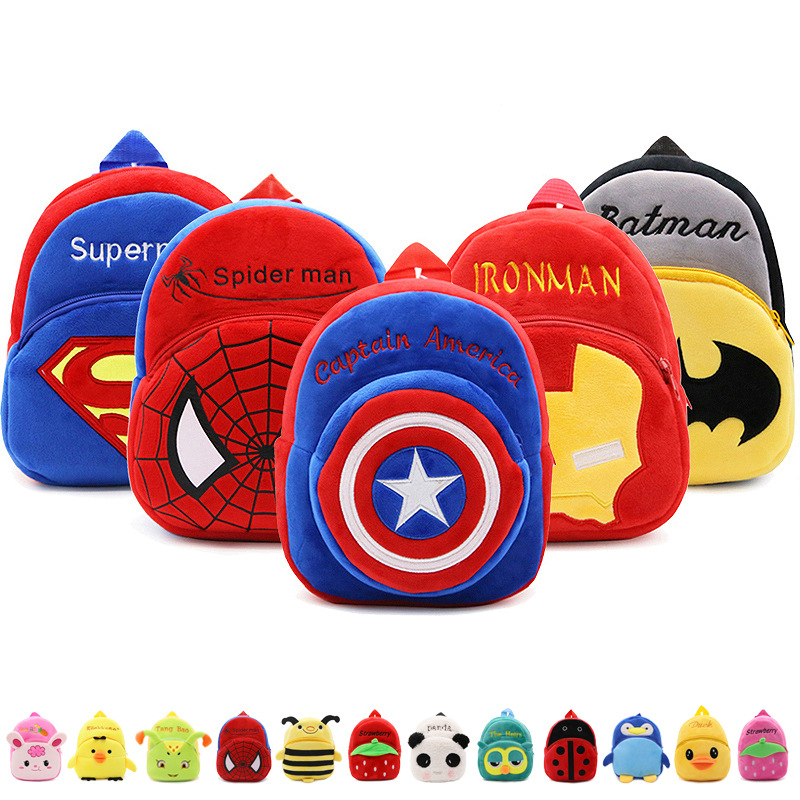 Cartoon Kids Plush Backpacks Mini Schoolbag Mickey Plush Backpack Children School Bags Girls Boys Backpack