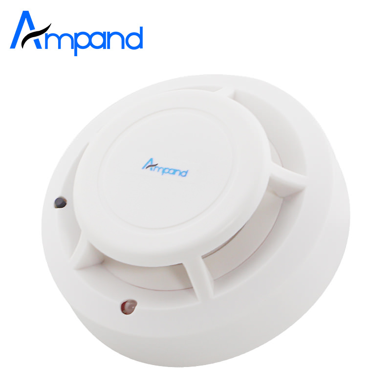 433MHZ Wireless Smoke Sensor Detector Burglar Alarm System for Home Security Alarm Accessories Crodless 1pcs Free Shipping free shipping new 6pcs gsm alarm system white infrared detector 433 mhz sensor for wireless home burglar security alarm system