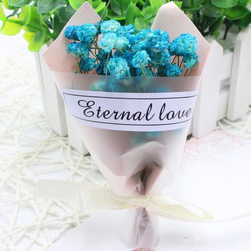 Wedding Bouquets Not Flowers: Fresh Mini Dried Bouquet Lavender Flower Forget Me Not