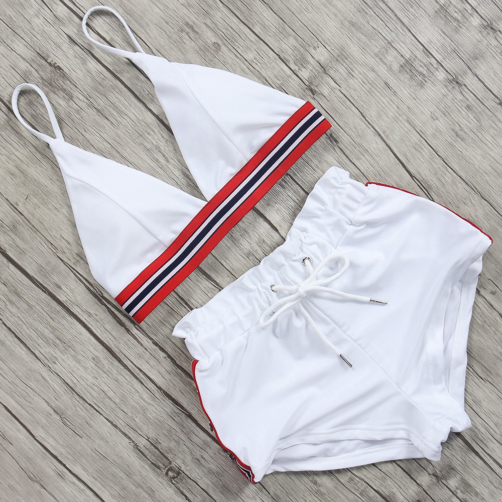 High Waist Sport Bikini Set 2019 Sexy Bikini Swimwear Women Push Up Swimsuit Bandage Brazilian Bikini female Maillot De Bain