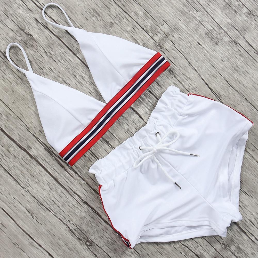 Bikini Swimwear Maillot-De-Bain Push-Up High-Waist Sport Women Female