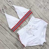 High Waist Sport Bikini Set 2019 Sexy Bikini Swimwear Women Push Up Swimsuit Bandage Brazilian Bikini female Maillot De Bain