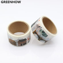 GREENHOW Washi Tape Adhesive Paper Tape School Office Supplies Decorative Tape Sticker 9018