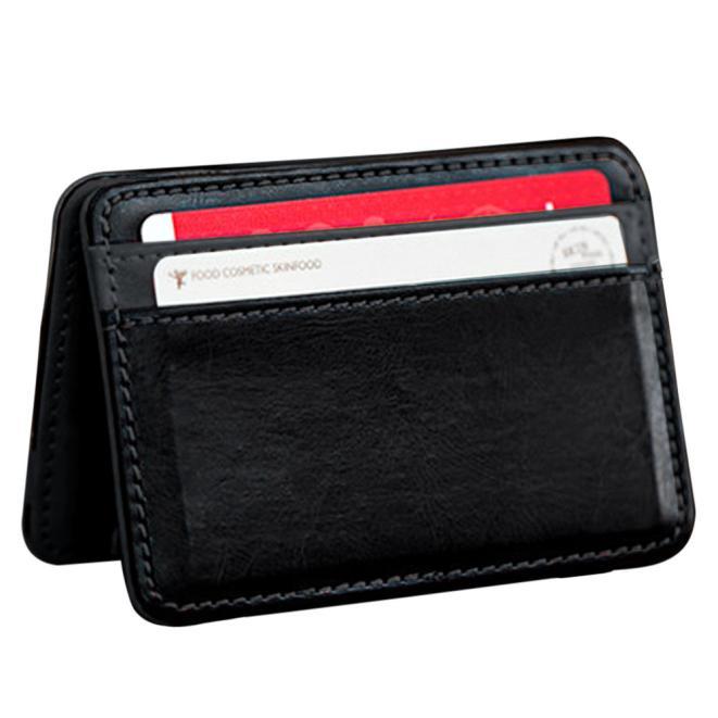 Maison Fabre Wallet Women Mini Neutral Magic Bifold Leather Wallet Men Card Holder Wallet Purse Money Clip Card Package
