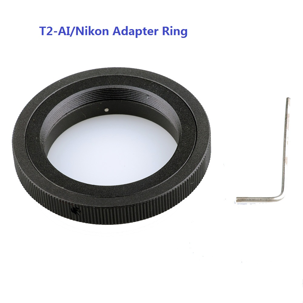 Lightdow T2-AI T Mount Adapter Ring  for Nikon DSLR Cameras D3100 D3400 D750 D7200 D7100 D5500 D5300 D3300 D90 D610 D80