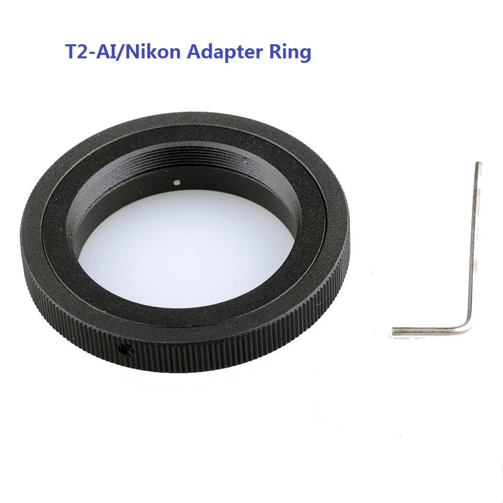 Lightdow T2-AI T-Adapterring für Nikon DSLR-Kameras D3100 D3400 D750 D7200 D7100 D5500 D5300 D3300 D90 D610 D80