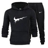 OLOEY tracksuit women outfits 2 piece set men sweatsuit cotton hoody sweatshirt track pants jogging men set joggers sport suits