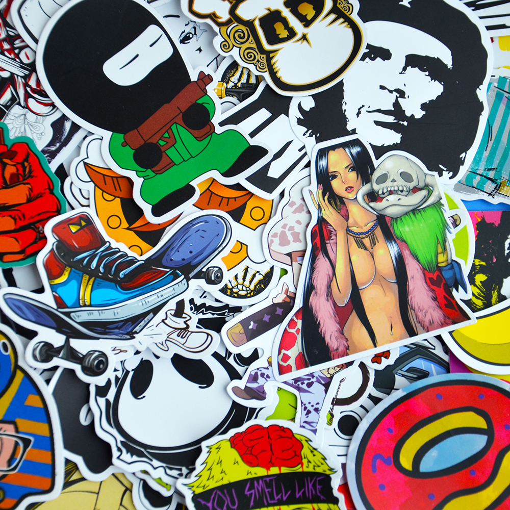 Mobil styling stiker bom doodle stiker skateboard graffiti snowboard motor sepeda tas vinyl aksesoris di mobil stiker dari mobil sepeda motor