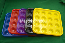 5-Color Pool Billiards Snooker Ball Box Plastic Case Container 22-Ball Holes Snooker Accessories Free Shipping Wholesales free shipping inflatable snooker football field snooker game giant inflatable table pool with balls for sale