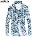 Nova chegada caga casual Floral Impressão Homens slim fit vestido de homem estilo roupas costura scotch roupas Plus Size 5XL MXB0113