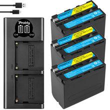 NP F960 NP F970 NP F960 NP F970 F950 Batteria + Caricatore USB LED Per Sony PLM 100 CCD TRV35 MVC FD91 MC1500C L10 TR555 VX2200E D77