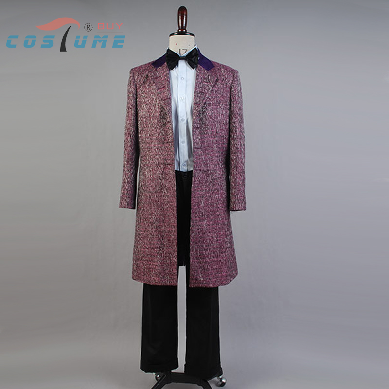 Who is Doctor 11th Purple Wool Blend Coat Cape Jacket Halloween Christams New Year Cosplay Costume For Men Free Shipping