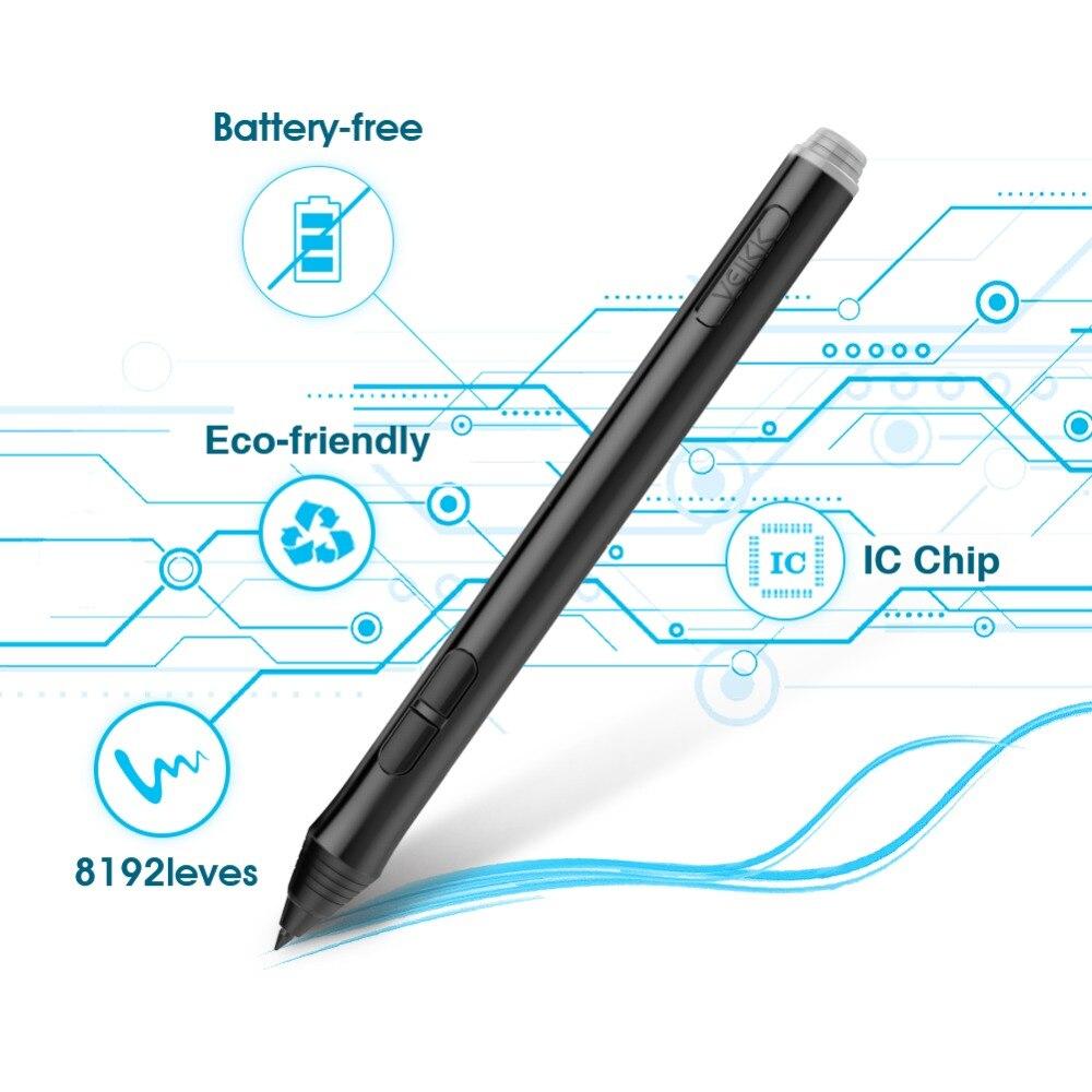 Tablette de dessin graphique VEIKK A50 avec 8192 de sensibilité à la pression (stylo passif sans batterie) périphériques d'ordinateur de tablette numérique - 5