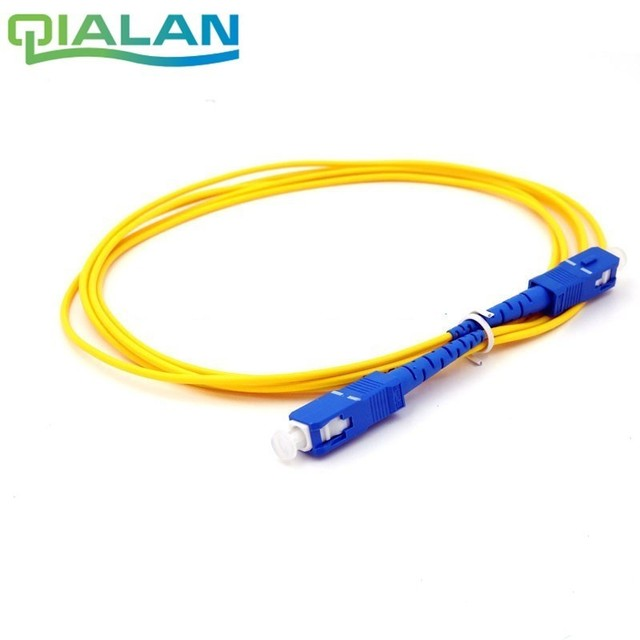 2m SC UPC Yama Kablosu Simplex 2.0mm PVC Tek Modlu Fiber yama kablosu, Yama Kablosu, optik Fiber Jumper SM SX SC Fiber Kablo