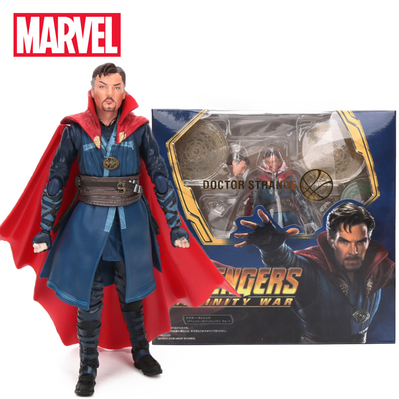 14-16cm Marvel Toys Avengers Infinity 3 War Doctor Strange Iron Spider Tom Holland Pvc Action Figure Shfiguart Collectible Model