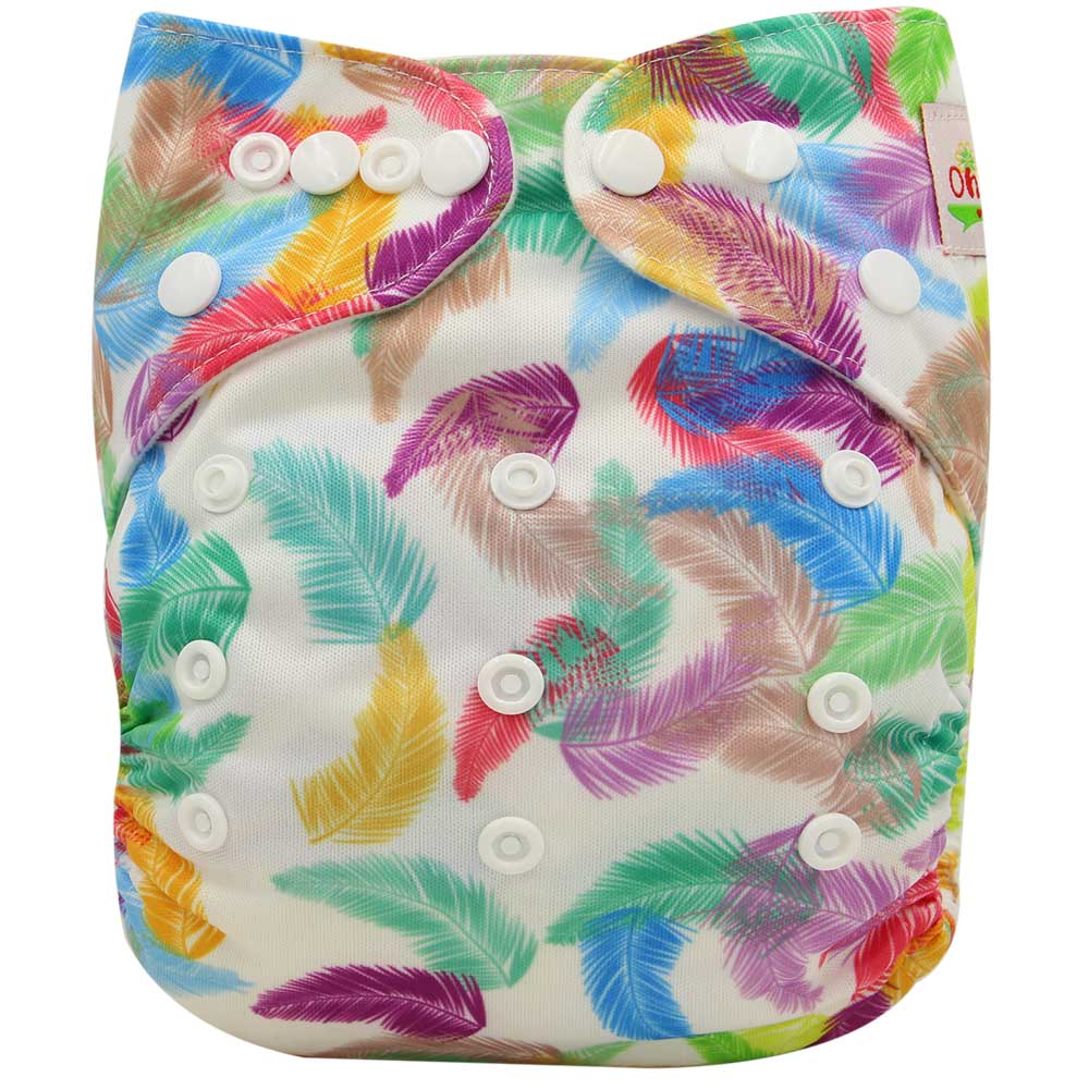 Ohbabyka, детские тканевые подгузники, многоразовые подгузники, унисекс, детские штаны для ухода за ребенком, водонепроницаемые тканевые подгузники с карманами, детские подарки для душа - Цвет: OB118
