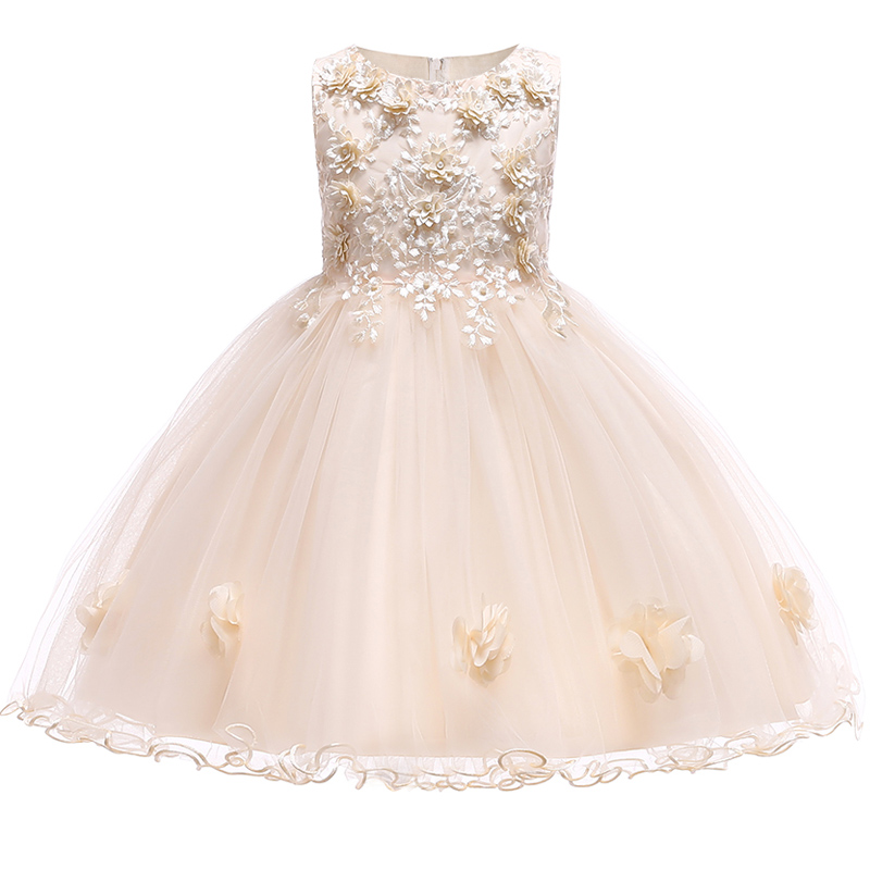 Summer Flower Girl Dresses For Little Girl School Wear Children Wedding Holiday Clothing Kids Party Dresses For Girl 8 10T 9