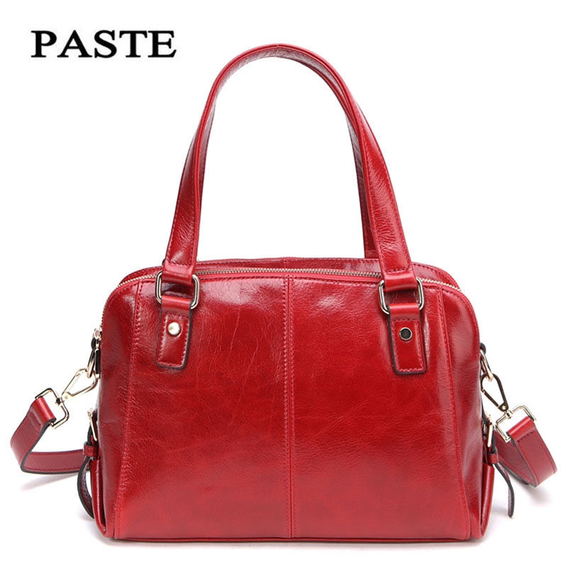2018 New Paste Luxury Red Women Bags Genuine Leather Shoulder Bags Luxury Women Crossbody Bag Fashion leather Bag P0703 luxury genuine leather shoulder