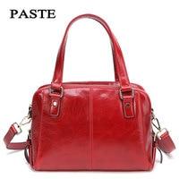 2018 New Paste Luxury Red Women Bags Genuine Leather Shoulder Bags Luxury Women Crossbody Bag Fashion