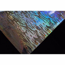 Tigofly 6 pcs 10X19cm Holographic Adhesive Film Flash Wave Pattern Artificial Fish Skin Jig Sticker Hard Baits Lures sticker