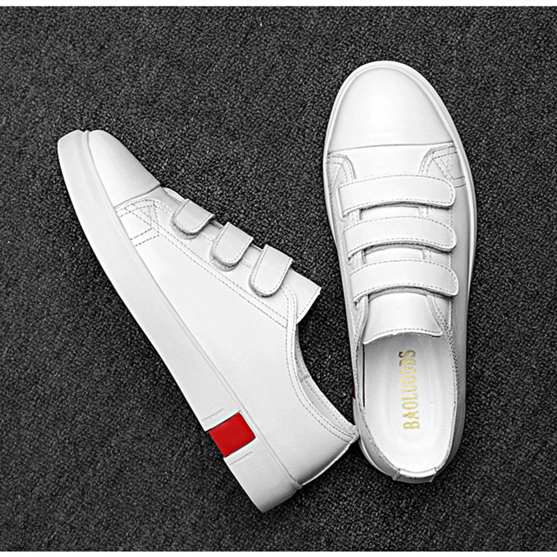 Sneakers New Fashion High Quality Soft Simple Casual Shoes Men Comfortable Breathable Ultra light Genuine Leather