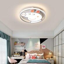 LICAN Modern LED Ceiling Lights for Living Wedding room 110V 220V Lustre avize Cartoon Pecs lamp Kids baby boys
